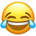 Emoji chorando de rir