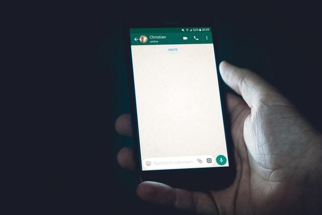 Janela de bate-papo do WhatsApp
