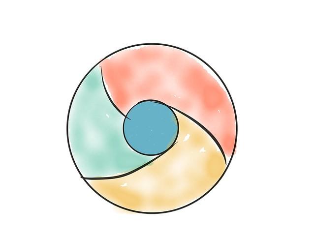 logo do Google Chrome desenhado em estilo rascunho