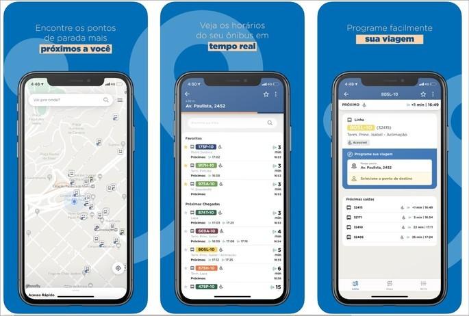 imagens de divulgação do app Cittamobi