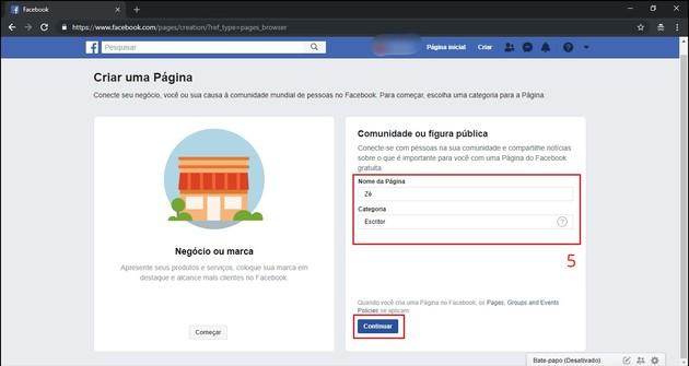 Como criar uma página no Facebook pelo PC