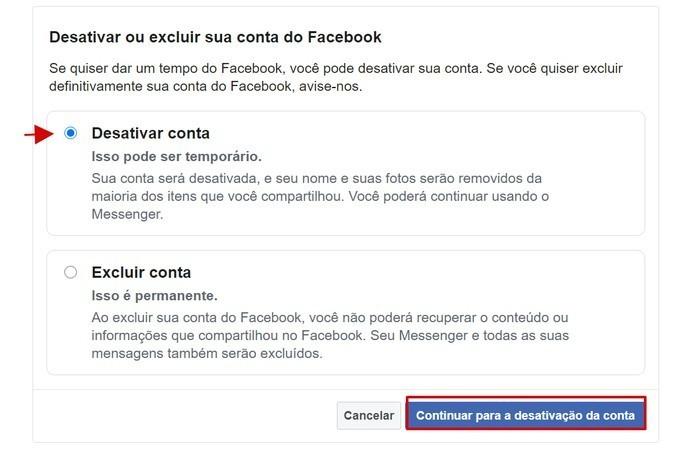 Como suspender a conta no Facebook