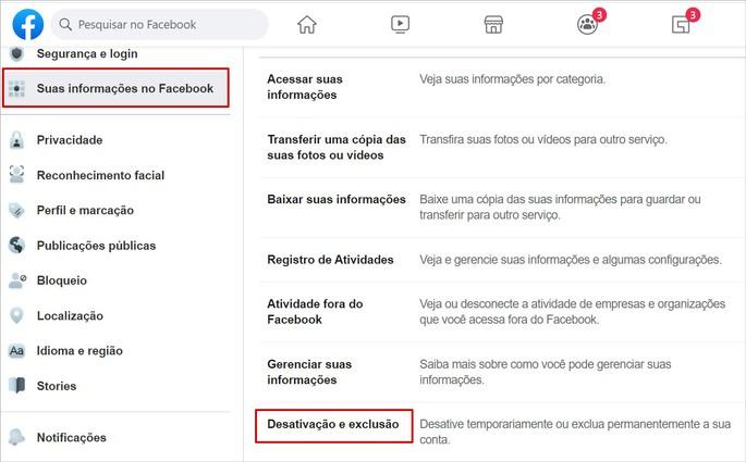 Como excluir a conta do Facebook no PC