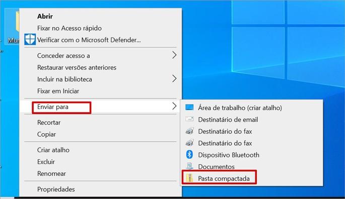 Como zipar arquivos no Windows sem baixar nada