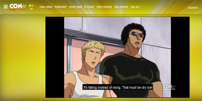 Captura de tela do site ConTV