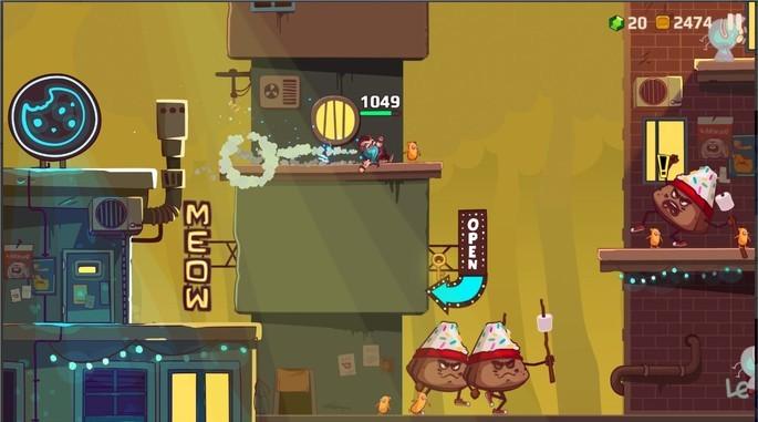 Imagem de divulgação do jogo de tiro indie Cookies must Die