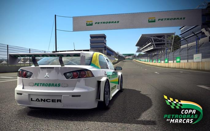 Imagem de divulgação do jogo de corrida Copa Petrobrás de Marcas