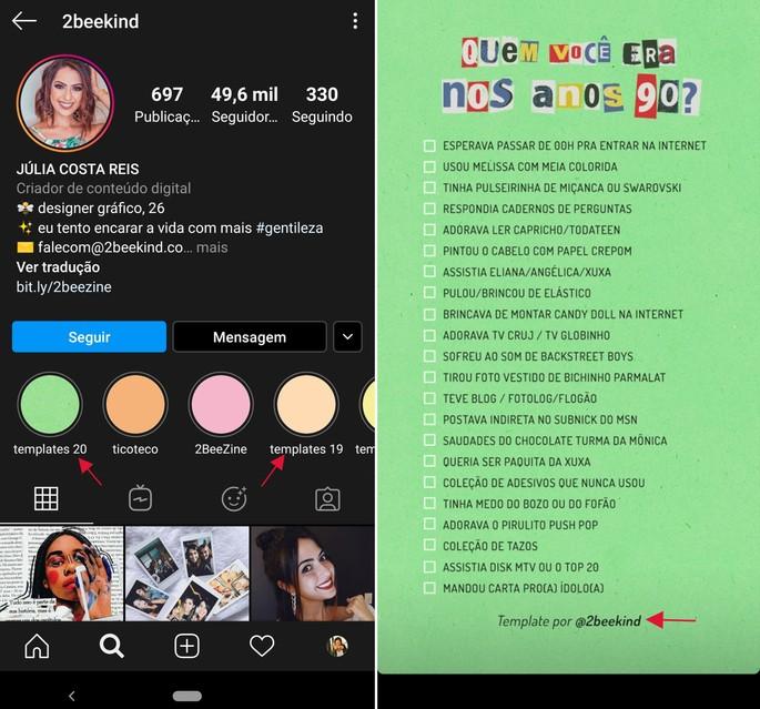 copiar texto instagram