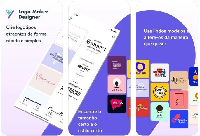 Imagem de divulgação do app Criador de Logos