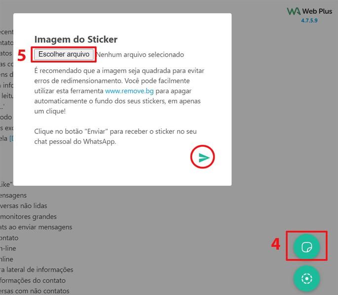 Criando figurinha do IWhatsApp com extensão do Chrome