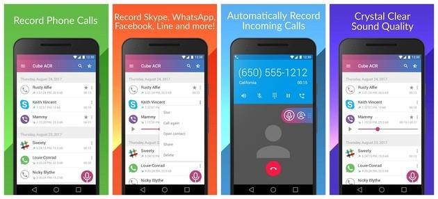 Gravar ligações e chamadas com o Cube Recorder