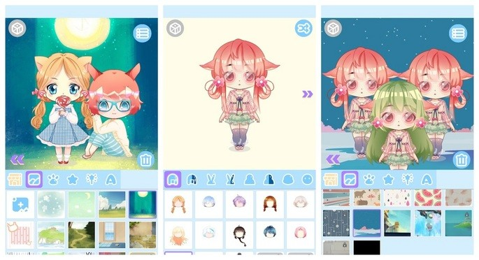 Criar avatar de boneca com o Cute Doll Maker