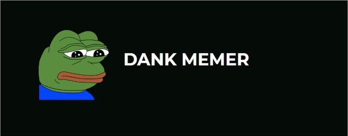 ícone do bot para Discord Dank Memer com o fundo preto