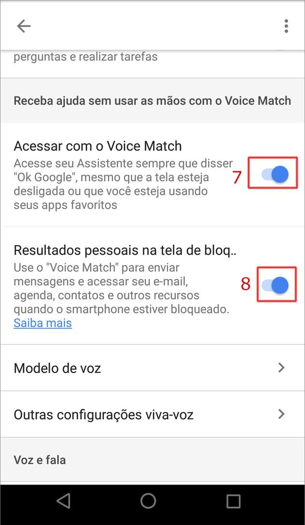 Desbloquar Android com a voz