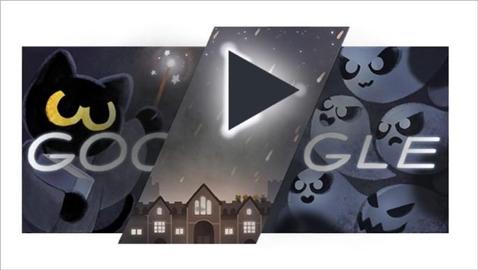 Doodle do Google de Dia das Bruxas