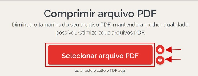 captura de tela do site iLovePDF