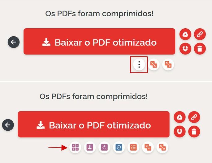 reprodução da tela do site iLovePDF