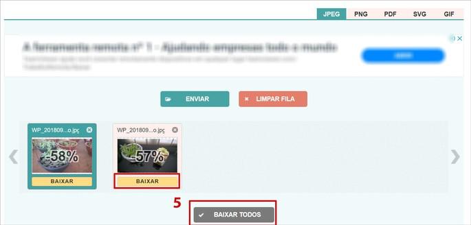 captura de tela do site Compress JPEG