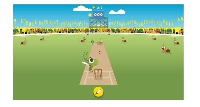 Doodle do Google para celebrar mundial de críquete