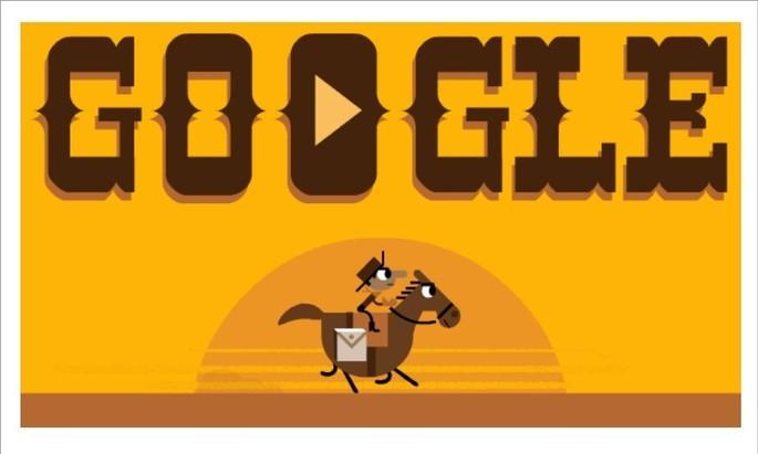 Google do Doodle sobre o serviço Pony Express