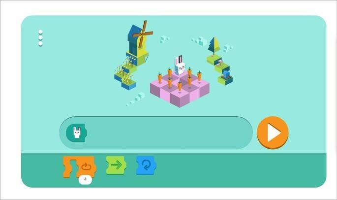 Doodle do Google sobre programação para crianças