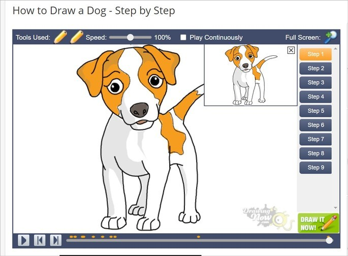 print do vídeo do site Drawing Now