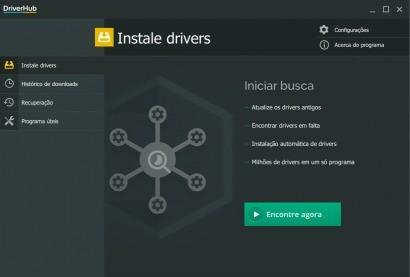 Imagem de divulgação do  atualizador de drivers DriverHub