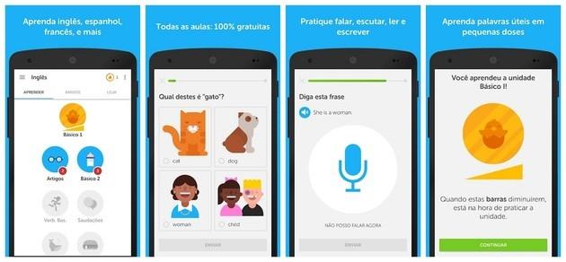 Aprender inglês com o Duolingo