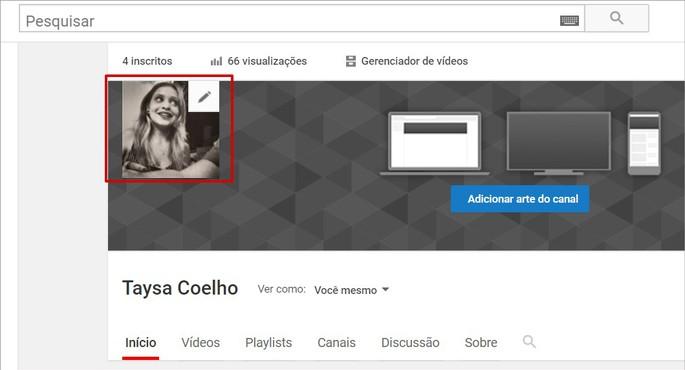 Editar foto de perfil e nome de seu canal no YouTube