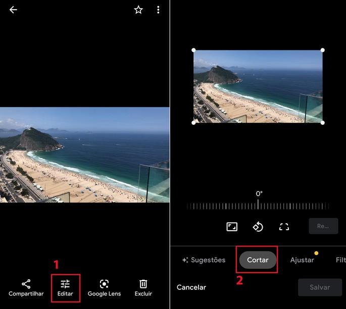 Como cortar fotos no editor de imagens do Android