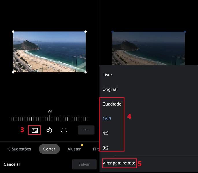 Como editar imagens no app Fotos do Android