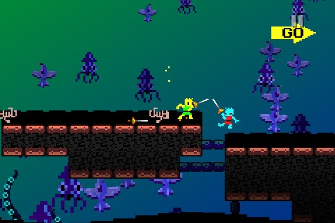 Imagem de divulgação do jogo arcade Eggnogg+