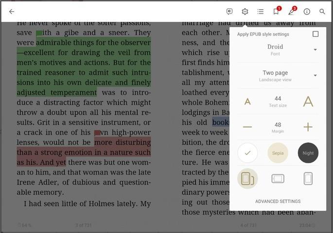 Imagem de divulgação do app de leitura de ebooks eReader Prestígio