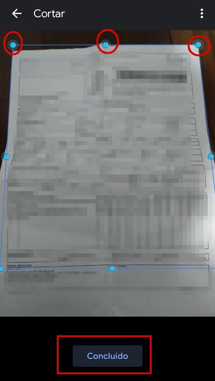 Como ajustar o documento digitalizado pelo Android