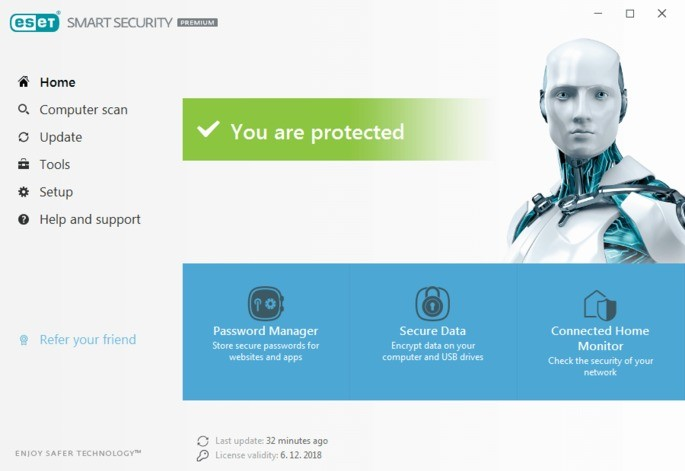Imagem de divulgação do antivírus ESET Internet Security