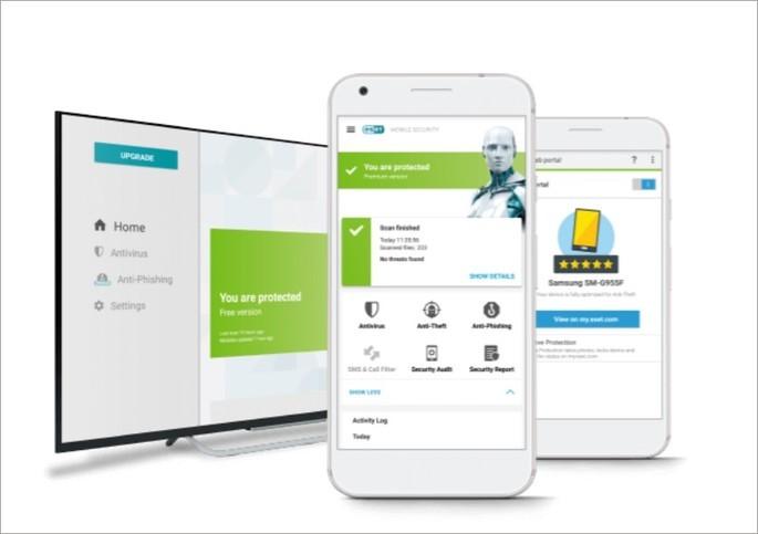 Imagem de divulgação do app ESET Mobile Security & Antivirus