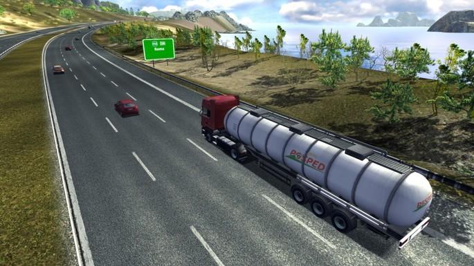 Imagem de divulgação do jogo Euro Truck Simulator