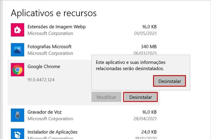 Como desinstalar o Chrome no Windows