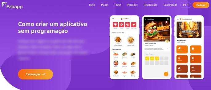 Como criar um aplicativo com o FabApp