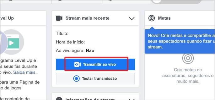 Live no Facebook