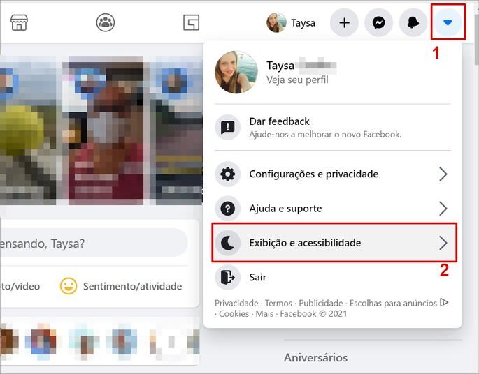 Como ativar o modo escuro do Facebook na versão web