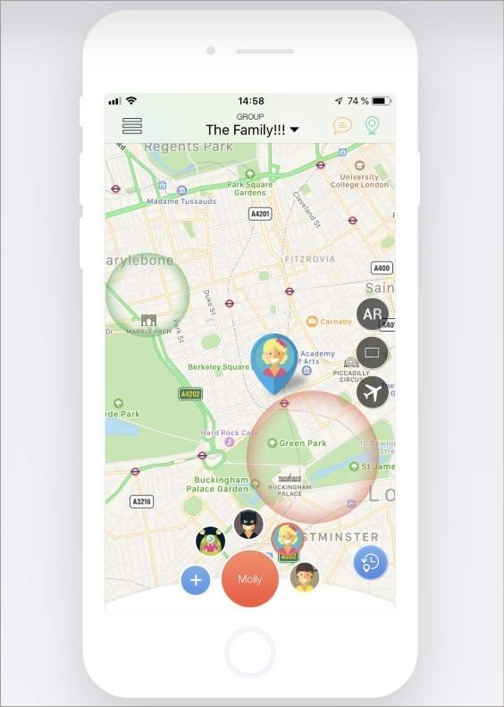 imagem de divulgação do site do app Family Locator