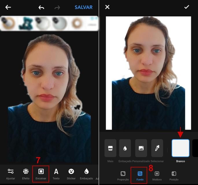Como inserir fundo branco em foto 3x4 com o app Editor de Fotos