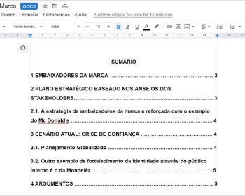 Como fazer sumário no Google Docs automaticamente