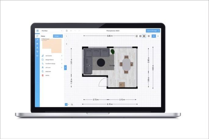 Imagem de divulgação do criador de plantas baixas online floorplanner