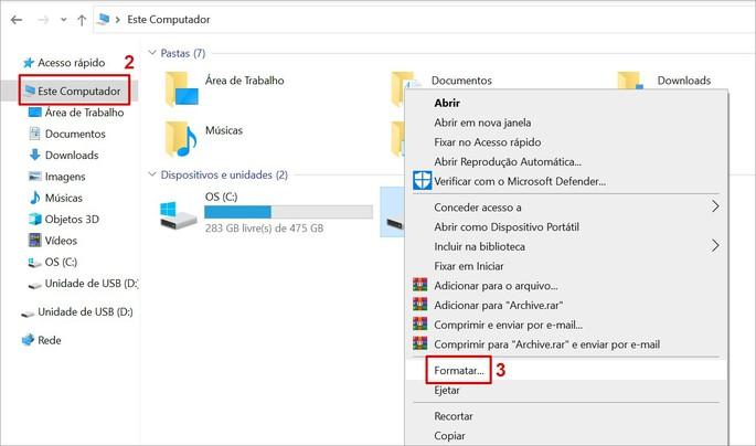 Como formatar pen drive no windows
