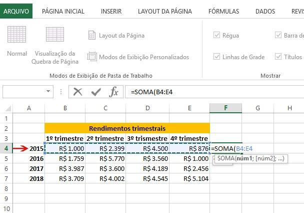 Fórmulas Excel