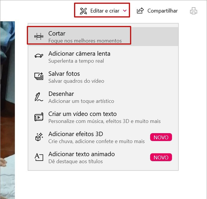Como cortar vídeo com programa do Windows