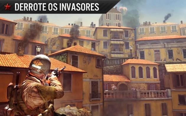 Jogo de guerra Frontline Commando: WW2