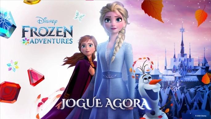 Captura de tela do vídeo de divulgação do jogo Aventuras de Frozen